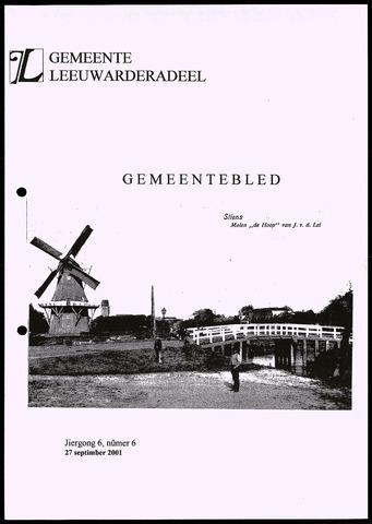 Notulen van de gemeenteraad van Leeuwarderadeel 2001-09-27