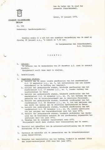 raadsverslagen Idaarderadeel 1935-1983 1973