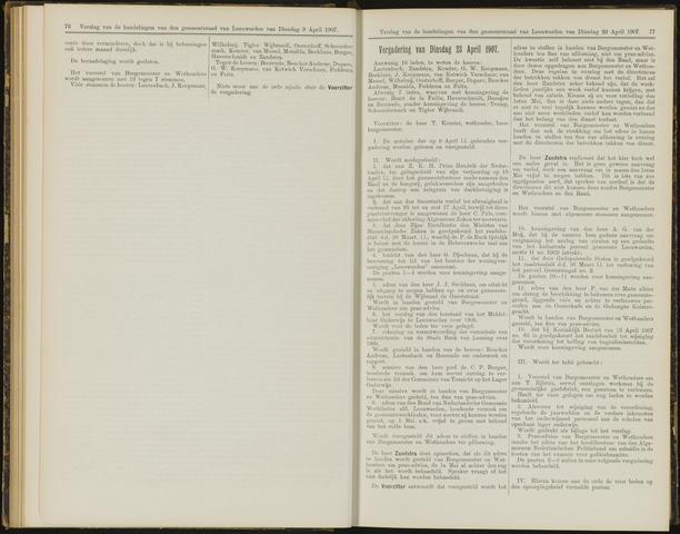 Raadsverslagen van de gemeente Leeuwarden, 1865-2007 (Notulen) 1907-04-23
