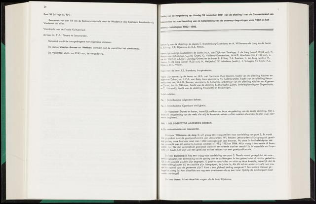 Raadsverslagen van de gemeente Leeuwarden, 1865-2007 (Notulen) 1981-11-10