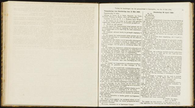 Raadsverslagen van de gemeente Leeuwarden, 1865-2007 (Notulen) 1880-05-13