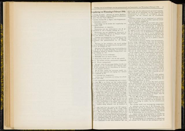 Raadsverslagen van de gemeente Leeuwarden, 1865-2007 (Notulen) 1946-02-06