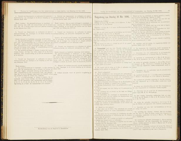 Raadsverslagen van de gemeente Leeuwarden, 1865-2007 (Notulen) 1896-05-26