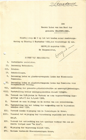 raadsverslagen Idaarderadeel 1935-1983 1939-09-05
