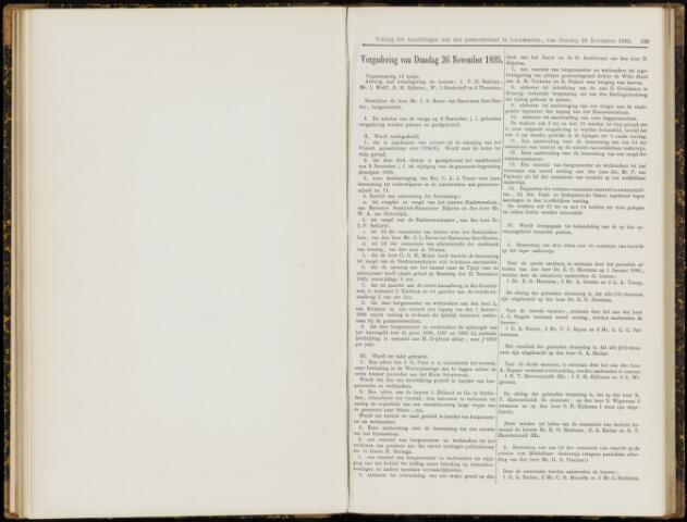 Raadsverslagen van de gemeente Leeuwarden, 1865-2007 (Notulen) 1895-11-26