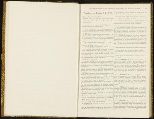 Raadsverslagen van de gemeente Leeuwarden, 1865-2007 (Notulen) 1892-05-09