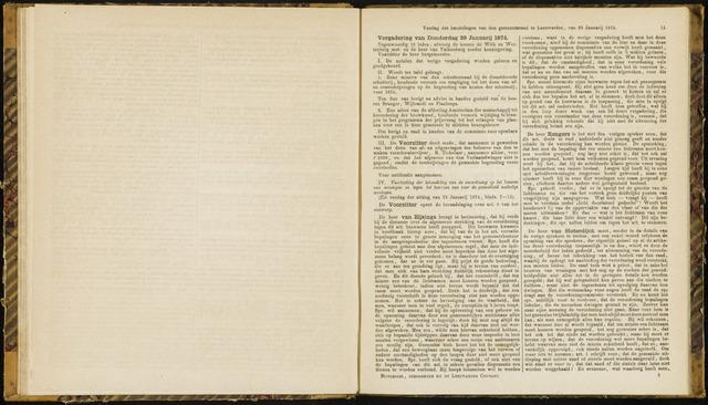 Raadsverslagen van de gemeente Leeuwarden, 1865-2007 (Notulen) 1874-01-29