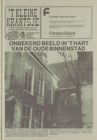 't Kleine Krantsje, 1964-1997 1989-05-01