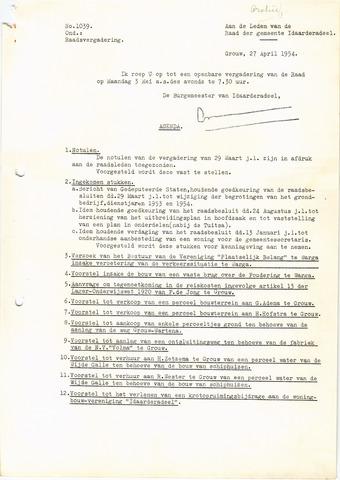 raadsverslagen Idaarderadeel 1935-1983 1954-05-03