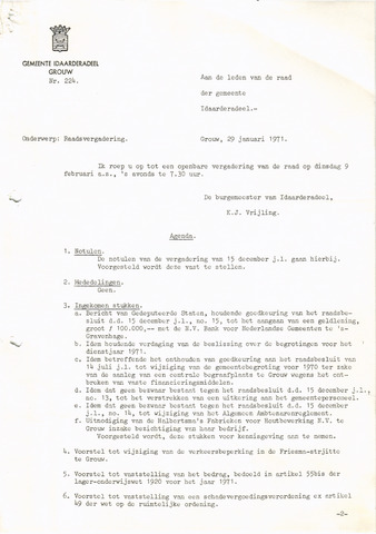 raadsverslagen Idaarderadeel 1935-1983 1971