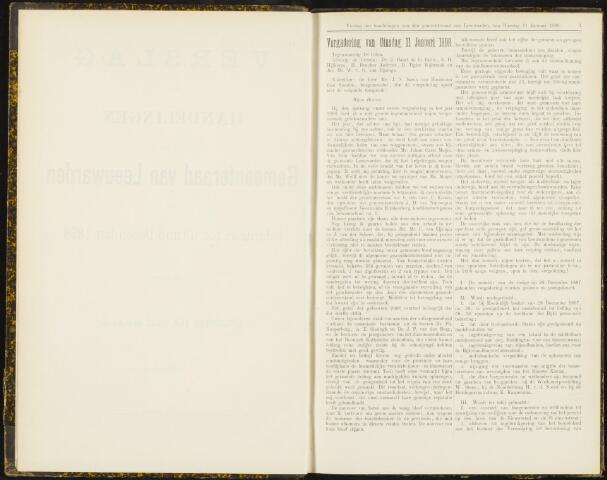 Raadsverslagen van de gemeente Leeuwarden, 1865-2007 (Notulen) 1898