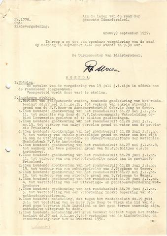 raadsverslagen Idaarderadeel 1935-1983 1957-09-16
