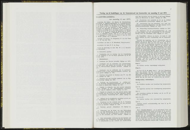 Raadsverslagen van de gemeente Leeuwarden, 1865-2007 (Notulen) 1973-05-14