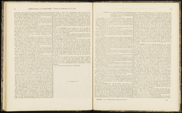Raadsverslagen van de gemeente Leeuwarden, 1865-2007 (Notulen) 1865-12-16
