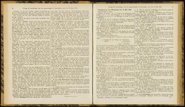 Raadsverslagen van de gemeente Leeuwarden, 1865-2007 (Notulen) 1885-05-13