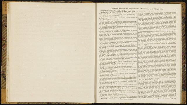Raadsverslagen van de gemeente Leeuwarden, 1865-2007 (Notulen) 1875-02-11