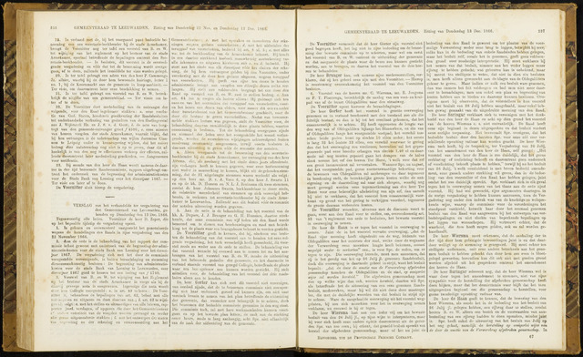 Raadsverslagen van de gemeente Leeuwarden, 1865-2007 (Notulen) 1866-12-13