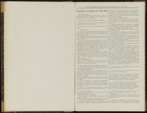 Raadsverslagen van de gemeente Leeuwarden, 1865-2007 (Notulen) 1889-05-07