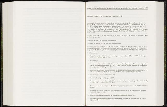 Raadsverslagen van de gemeente Leeuwarden, 1865-2007 (Notulen) 1979-08-06