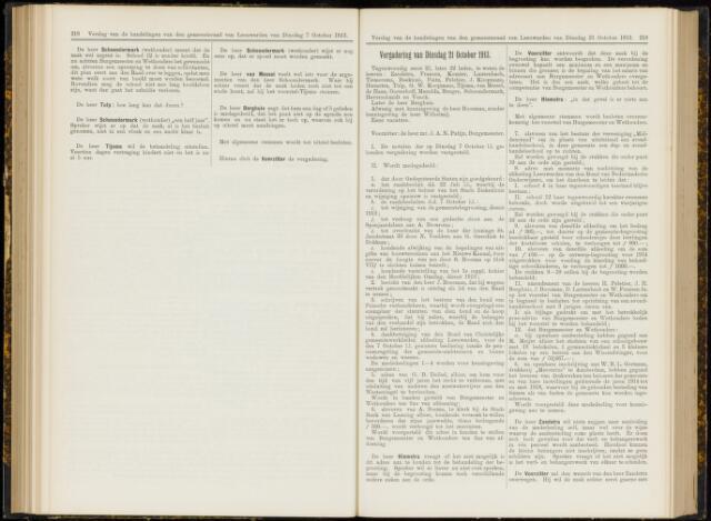 Raadsverslagen van de gemeente Leeuwarden, 1865-2007 (Notulen) 1913-10-21