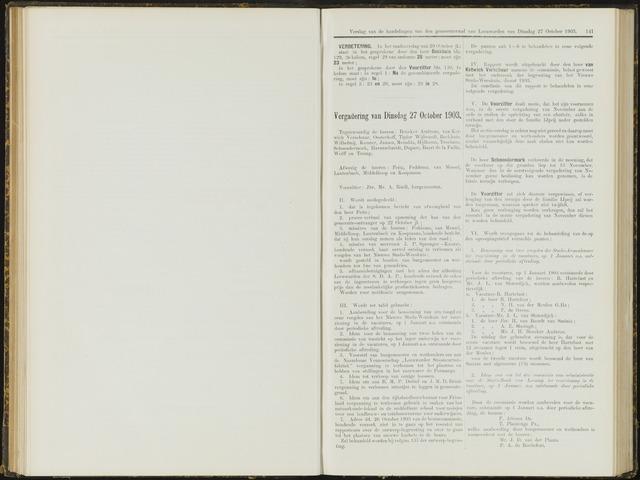 Raadsverslagen van de gemeente Leeuwarden, 1865-2007 (Notulen) 1903-10-27
