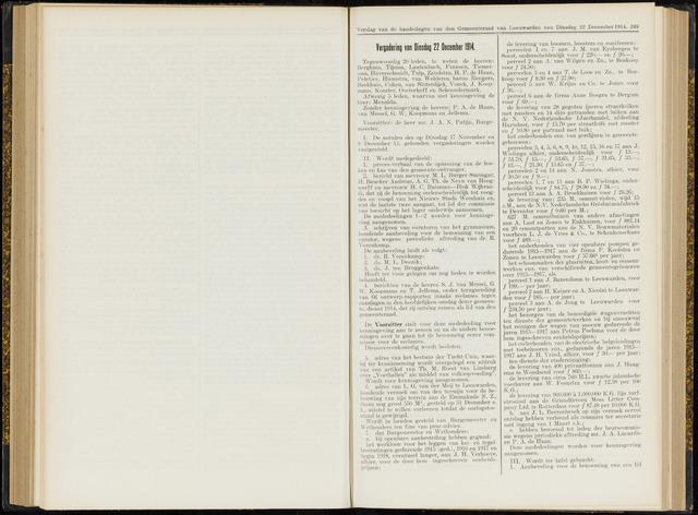 Raadsverslagen van de gemeente Leeuwarden, 1865-2007 (Notulen) 1914-12-22