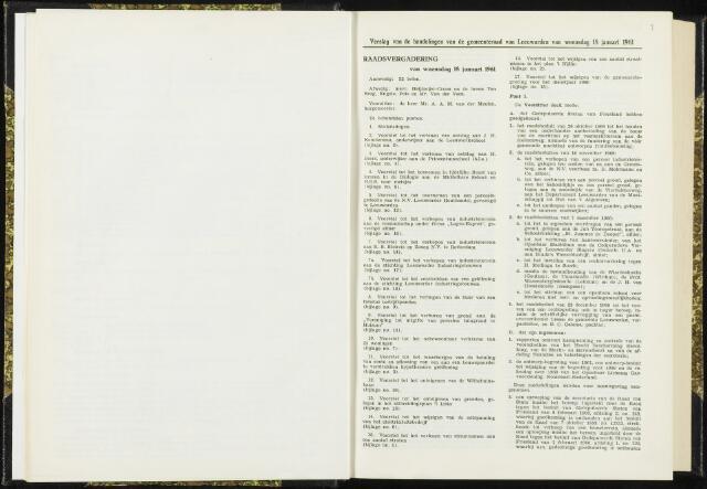 Raadsverslagen van de gemeente Leeuwarden, 1865-2007 (Notulen) 1961
