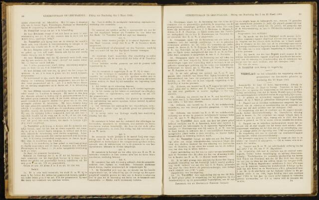 Raadsverslagen van de gemeente Leeuwarden, 1865-2007 (Notulen) 1868-03-12