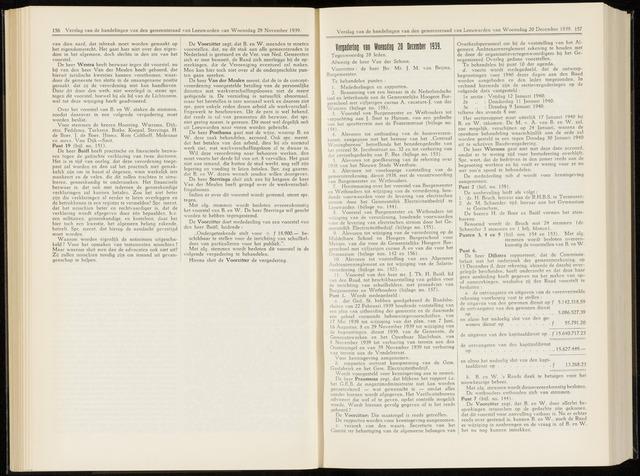 Raadsverslagen van de gemeente Leeuwarden, 1865-2007 (Notulen) 1939-12-20