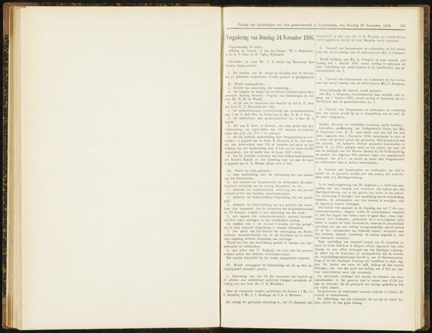 Raadsverslagen van de gemeente Leeuwarden, 1865-2007 (Notulen) 1896-11-24
