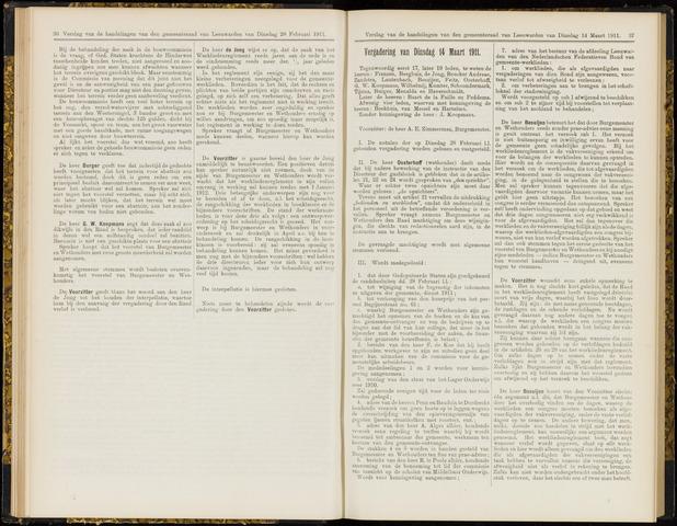 Raadsverslagen van de gemeente Leeuwarden, 1865-2007 (Notulen) 1911-03-14