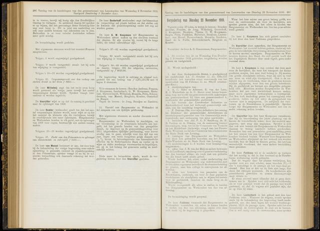 Raadsverslagen van de gemeente Leeuwarden, 1865-2007 (Notulen) 1910-11-22