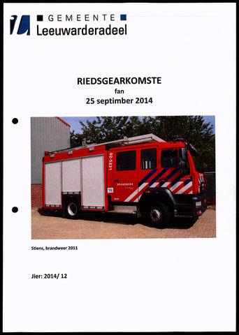 Notulen van de gemeenteraad van Leeuwarderadeel 2014-09-25