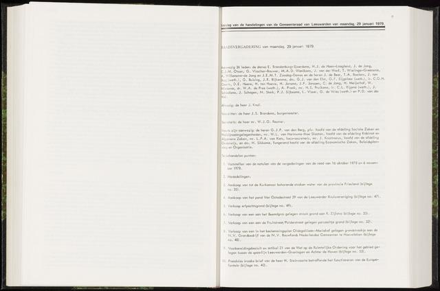Raadsverslagen van de gemeente Leeuwarden, 1865-2007 (Notulen) 1979-01-29