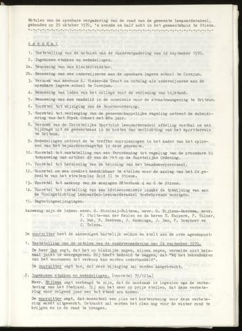 Notulen van de gemeenteraad van Leeuwarderadeel 1970-10-29