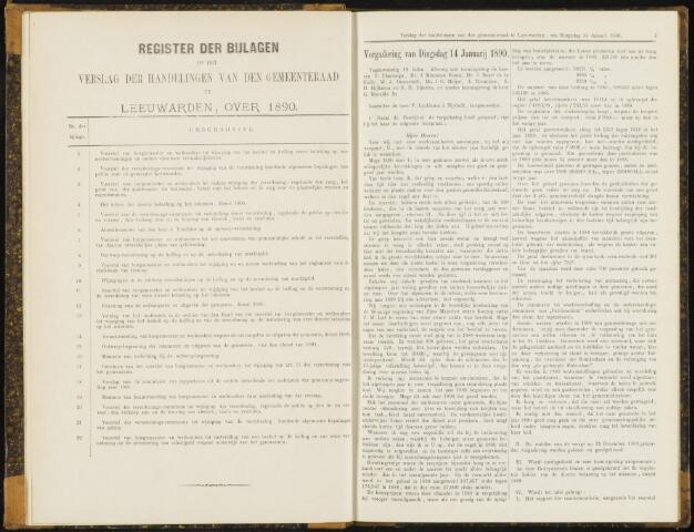 Raadsverslagen van de gemeente Leeuwarden, 1865-2007 (Notulen) 1890