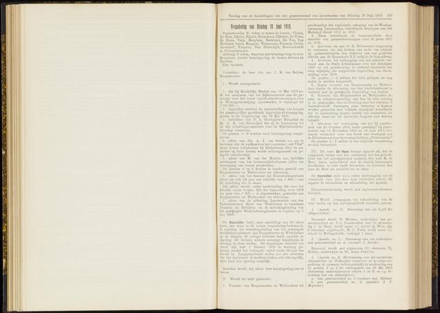 Raadsverslagen van de gemeente Leeuwarden, 1865-2007 (Notulen) 1919-06-10
