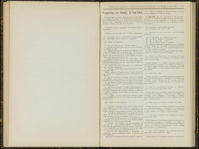 Raadsverslagen van de gemeente Leeuwarden, 1865-2007 (Notulen) 1904-06-28