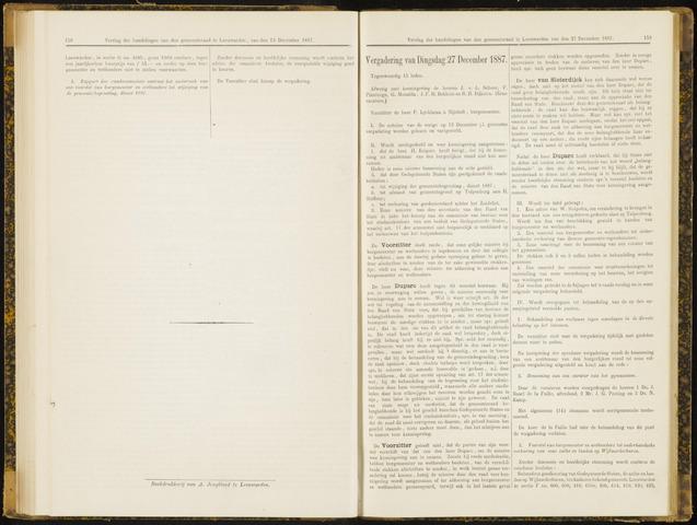 Raadsverslagen van de gemeente Leeuwarden, 1865-2007 (Notulen) 1887-11-27