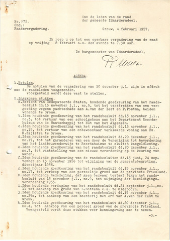 raadsverslagen Idaarderadeel 1935-1983 1957