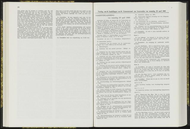Raadsverslagen van de gemeente Leeuwarden, 1865-2007 (Notulen) 1969-04-28