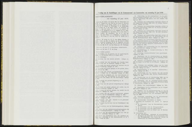 Raadsverslagen van de gemeente Leeuwarden, 1865-2007 (Notulen) 1970-06-22