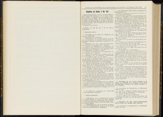 Raadsverslagen van de gemeente Leeuwarden, 1865-2007 (Notulen) 1930-05-13