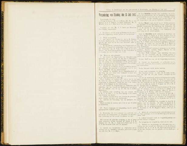 Raadsverslagen van de gemeente Leeuwarden, 1865-2007 (Notulen) 1897-07-13