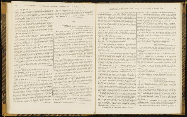 Raadsverslagen van de gemeente Leeuwarden, 1865-2007 (Notulen) 1869-02-25