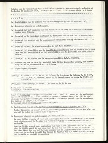 Notulen van de gemeenteraad van Leeuwarderadeel 1969-09-25