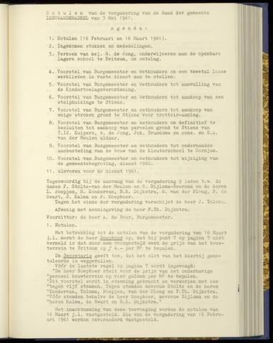 Notulen van de gemeenteraad van Leeuwarderadeel 1961-05-03