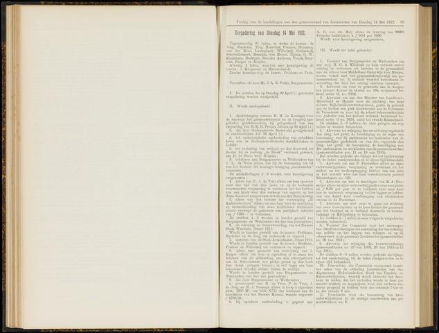 Raadsverslagen van de gemeente Leeuwarden, 1865-2007 (Notulen) 1912-05-14