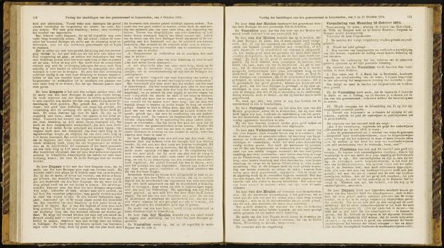 Raadsverslagen van de gemeente Leeuwarden, 1865-2007 (Notulen) 1874-10-19