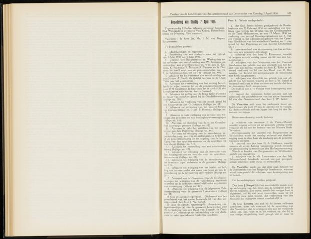 Raadsverslagen van de gemeente Leeuwarden, 1865-2007 (Notulen) 1936-04-07